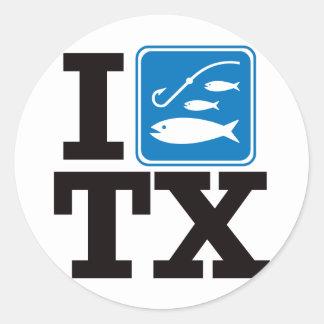 I Fish Texas - TX Classic Round Sticker