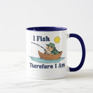 I Fish, Therefore I Am Mug