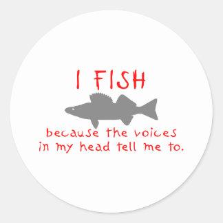 I FISH WALLEYE CLASSIC ROUND STICKER