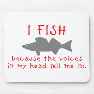 I FISH WALLEYE MOUSE PAD