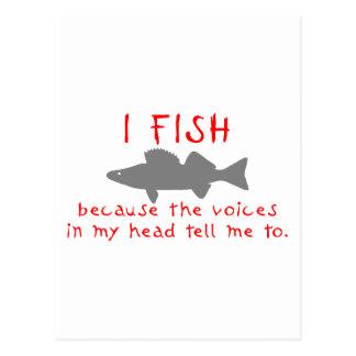 I FISH WALLEYE POSTCARD