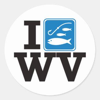 I Fish West Virginia - WV Classic Round Sticker