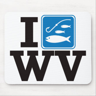 I Fish West Virginia - WV Mouse Pad