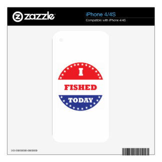 I Fished Today Decal For iPhone 4S