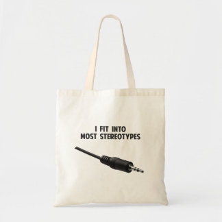 I Fit Into Most Stereotypes Tote Bag