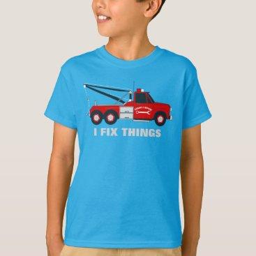 adamfahey I fix things tow truck T-Shirt