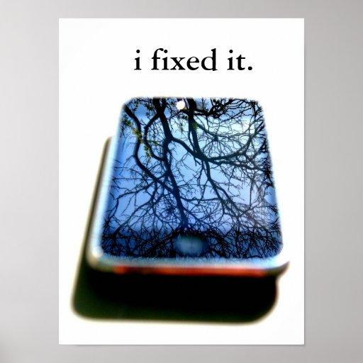 i fixed it iphone mirror print