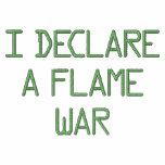 I FLAME WAR DE DECLAREA SUDADERA BORDADA