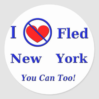I Fled New York - You Can Too! Round Stickers