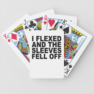 I Flexed And The Sleeves Fell Off T-Shirts.png Playing Cards