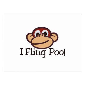I Fling Poo! Postcard