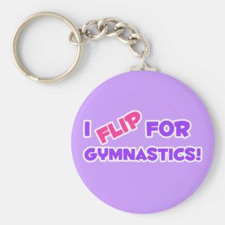 I Flip for Gymnastics! Keychain
