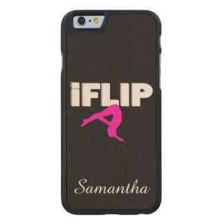 I Flip gymnastics Carved® Maple iPhone 6 Slim Case