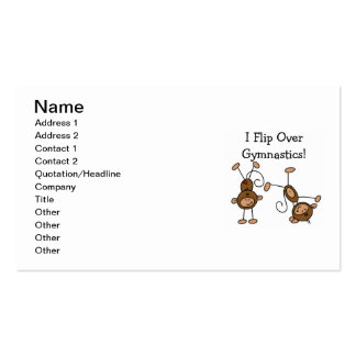 I Flip Over Gymnastics Double-Sided Standard Business Cards (Pack Of 100)