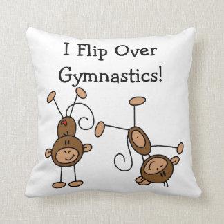 I Flip Over Gymnastics Throw Pillows