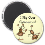 I Flip Over Gymnastics Tshirts and Gifts 2 Inch Round Magnet