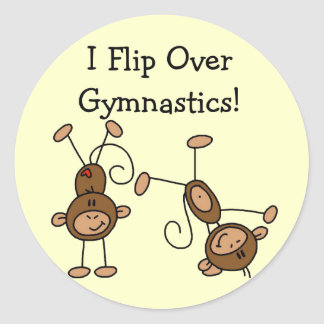 I Flip Over Gymnastics Tshirts and Gifts Classic Round Sticker