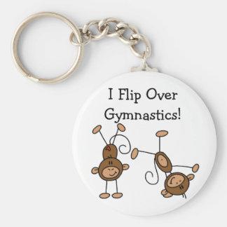 I Flip Over Gymnastics Tshirts and Gifts Keychain