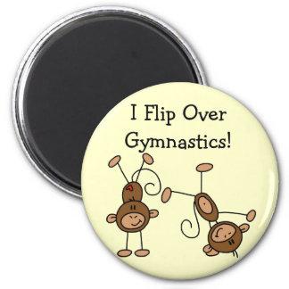 I Flip Over Gymnastics Tshirts and Gifts Fridge Magnet