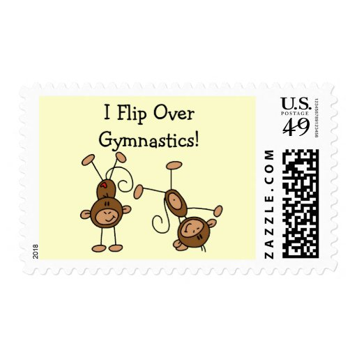 I Flip Over Gymnastics Tshirts and Gifts Postage Stamp