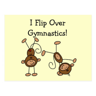 I Flip Over Gymnastics Tshirts and Gifts Postcard