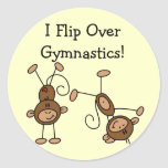 I Flip Over Gymnastics Tshirts and Gifts Sticker