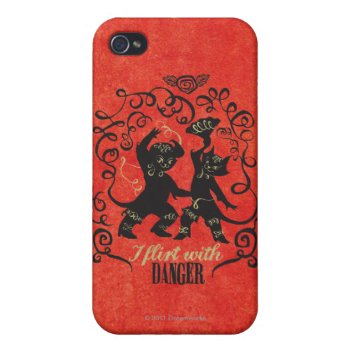 I Flirt With Danger 2 Iphone 4 Case by pussinboots at Zazzle