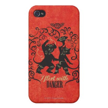 I Flirt With Danger 2 Iphone 4 Cover by pussinboots at Zazzle