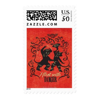 I Flirt With Danger 2 Postage by pussinboots at Zazzle