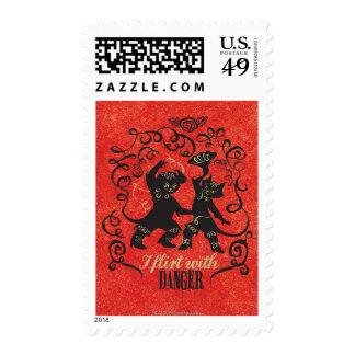 I Flirt With Danger 2 Postage Stamps