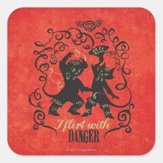 I Flirt With Danger 2 Square Sticker