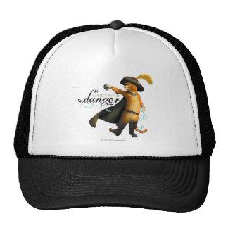 I Flirt With Danger (color) Hats