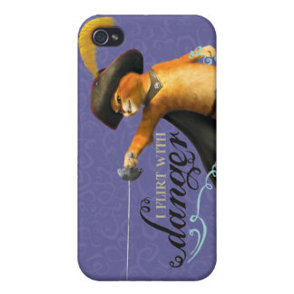 I Flirt With Danger (color) iPhone 4 Cover
