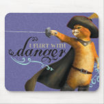 I Flirt With Danger (color) Mouse Pads