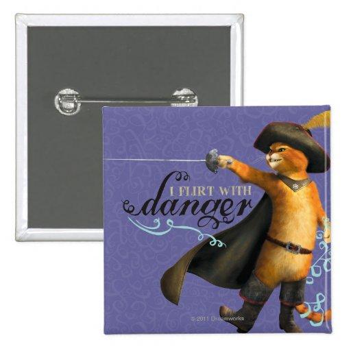 I Flirt With Danger (color) Pin