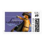 I Flirt With Danger (color) Postage Stamps