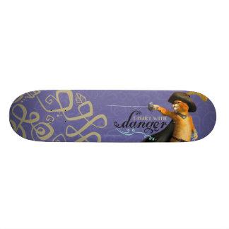 I Flirt With Danger (color) Skateboard Deck