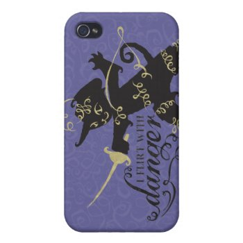 I Flirt With Danger Iphone 4/4s Cover by pussinboots at Zazzle