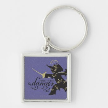 I Flirt With Danger Keychain by pussinboots at Zazzle