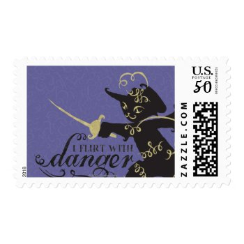 I Flirt With Danger Postage by pussinboots at Zazzle