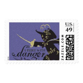 I Flirt With Danger Postage Stamps