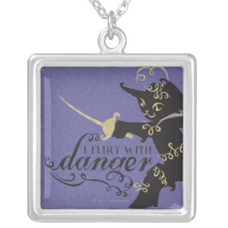 I Flirt With Danger Silver Plated Necklace
