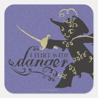 I Flirt With Danger Square Sticker
