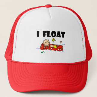 I Float Stick Figure  Trucker Hat