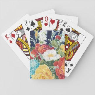 I floral de medianoche cartas de juego
