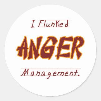 I Flunk anger management Classic Round Sticker