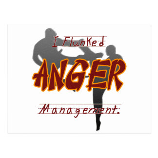 I Flunk anger management, Keep away from me it mea Postcard