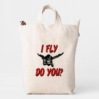 I Fly, Do You? (blk) Duck Bag