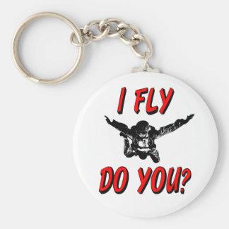 I Fly, Do You? (blk) Keychain