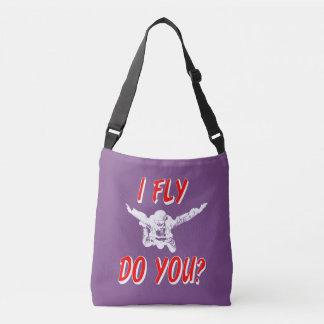 I Fly, Do You? (wht) Crossbody Bag